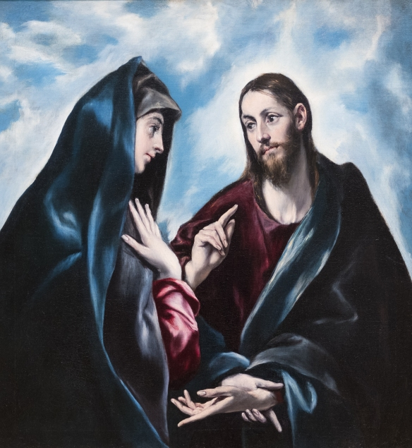 El Greco, Christ Taking Leave of His Mother 1585 1/27/18 #artins
