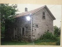 The original farm house before its demise in 2005