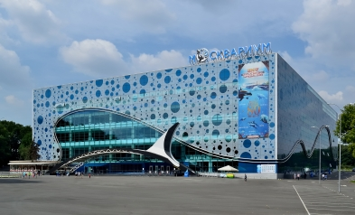 VDNKh. The Centre of Oceanography and Marine Biology Moskvarium. Built in 2015.